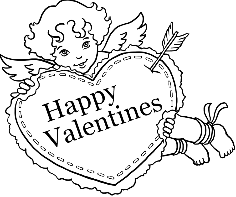 Disegni Di San Valentino Da Colorare E Stampare
