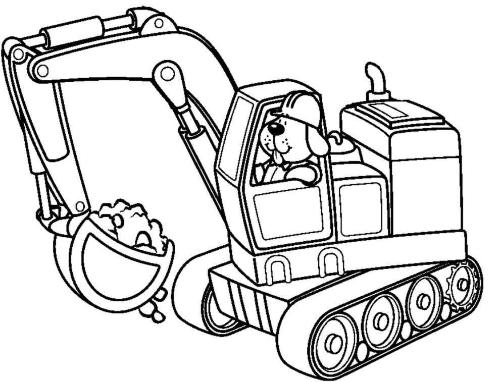 Escavatori Da Colorare.Stampa Disegno Di Scavatrice Meccanica Da Colorare