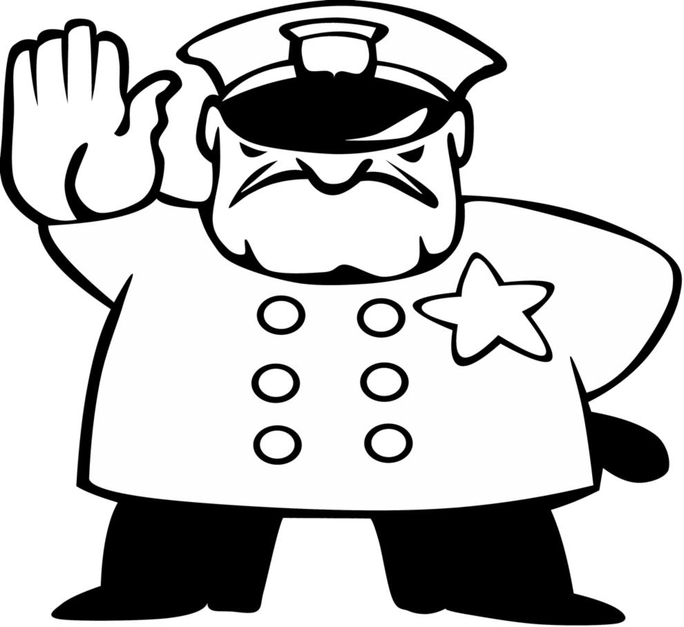 disegno di Poliziotto da colorare