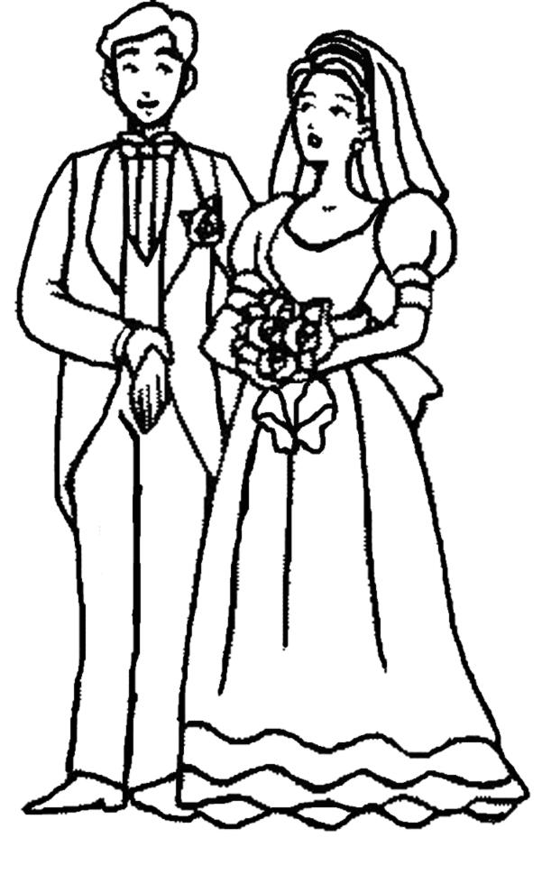 vestiti da sposa da colorare e stampare migliore