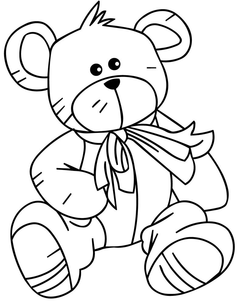 Stampa disegno di Teddy Bear da colorare
