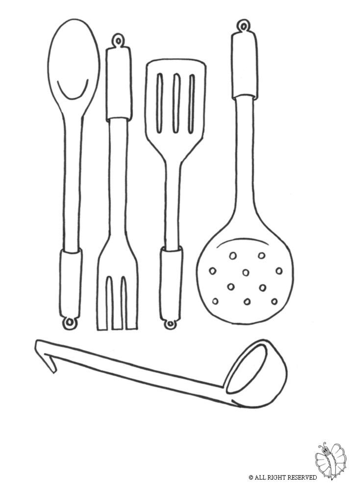 Stampa disegno di cucinare da colorare for Disegni di scantinati di sciopero