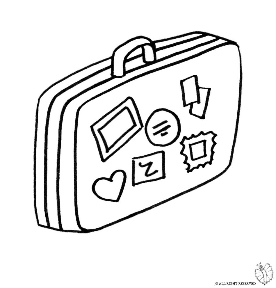 Stampa disegno di valigia da colorare for Costruzione di disegni online