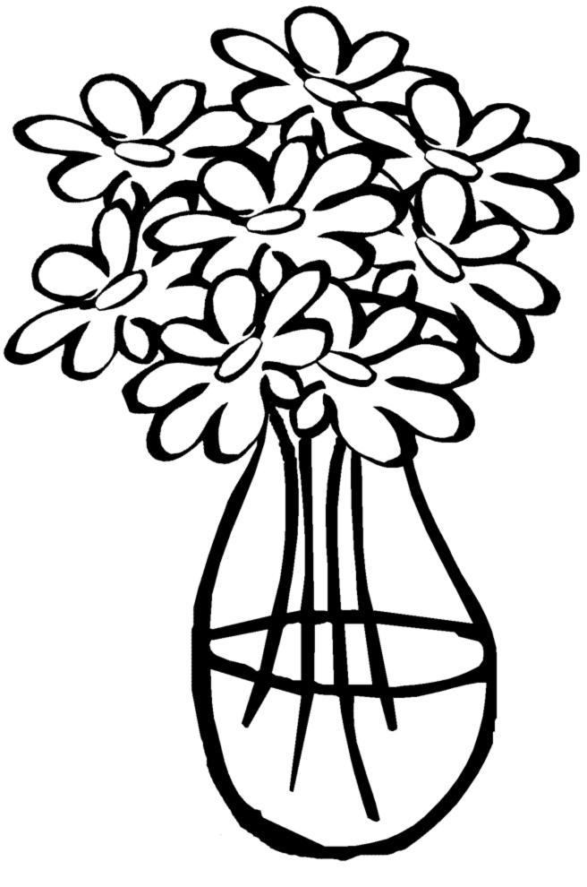 Stampa disegno di vaso con acqua da colorare for Immagini da dipingere su vetro