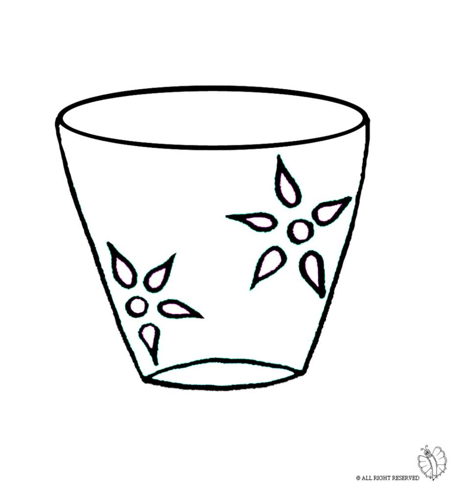 stampa disegno di vaso da colorare