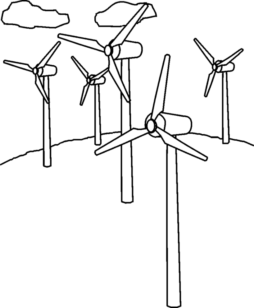 wind power coloring pages coloring pages