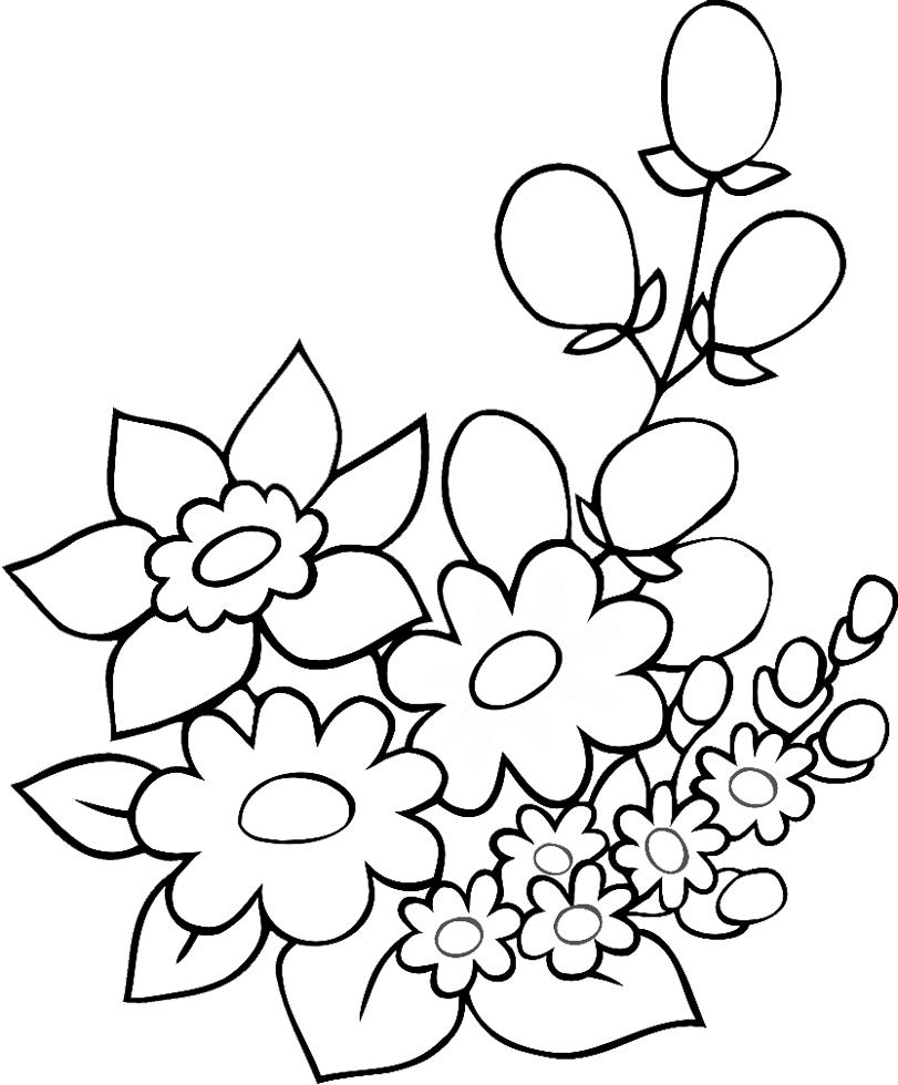 Disegni di primavera da colorare e stampare for Fiori da colorare e stampare
