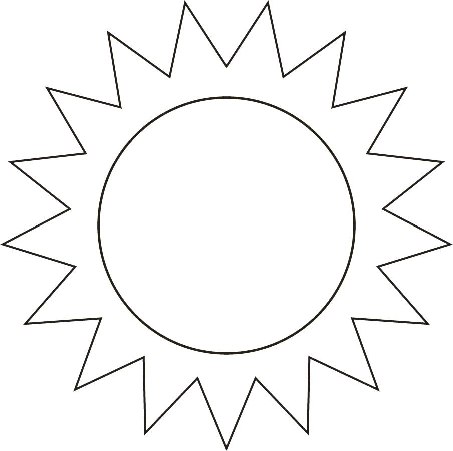 stampa disegno di il sole da colorare