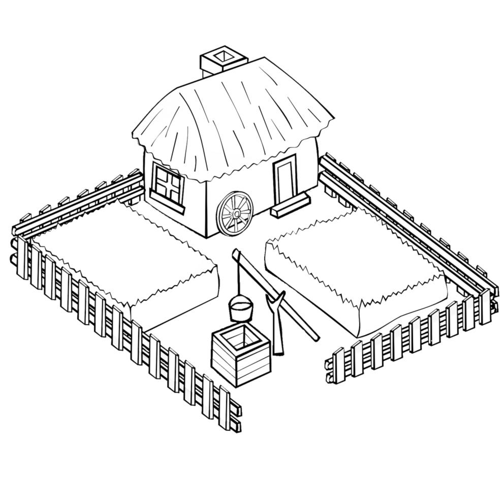 Stampa disegno di la fattoria da colorare for Stampe di fattoria gratis