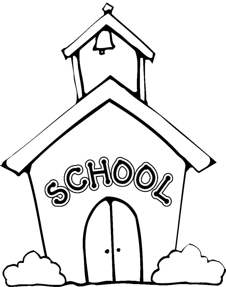 Stampa disegno di la scuola da colorare - Torna a scuola da colorare ...