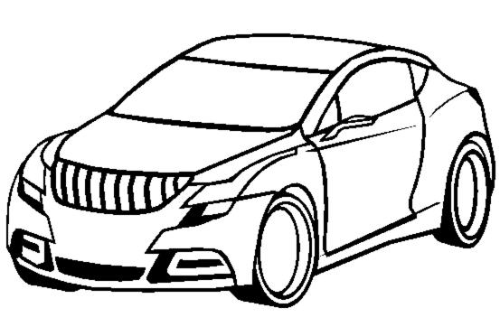 Stampa disegno di macchina da colorare for Disegni da colorare macchine cars