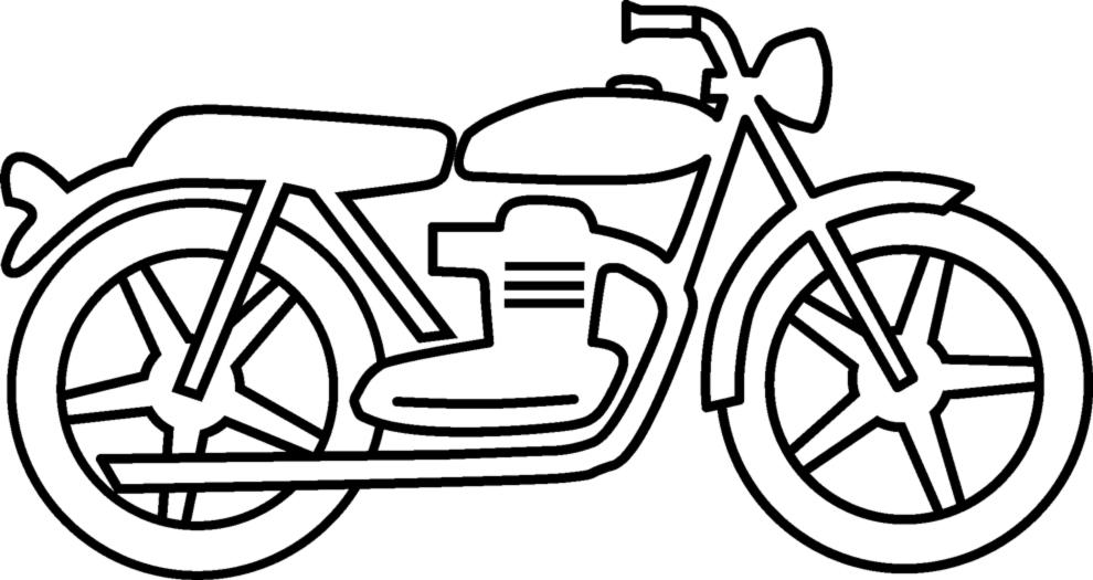 Stampa Disegno Di La Moto Da Colorare