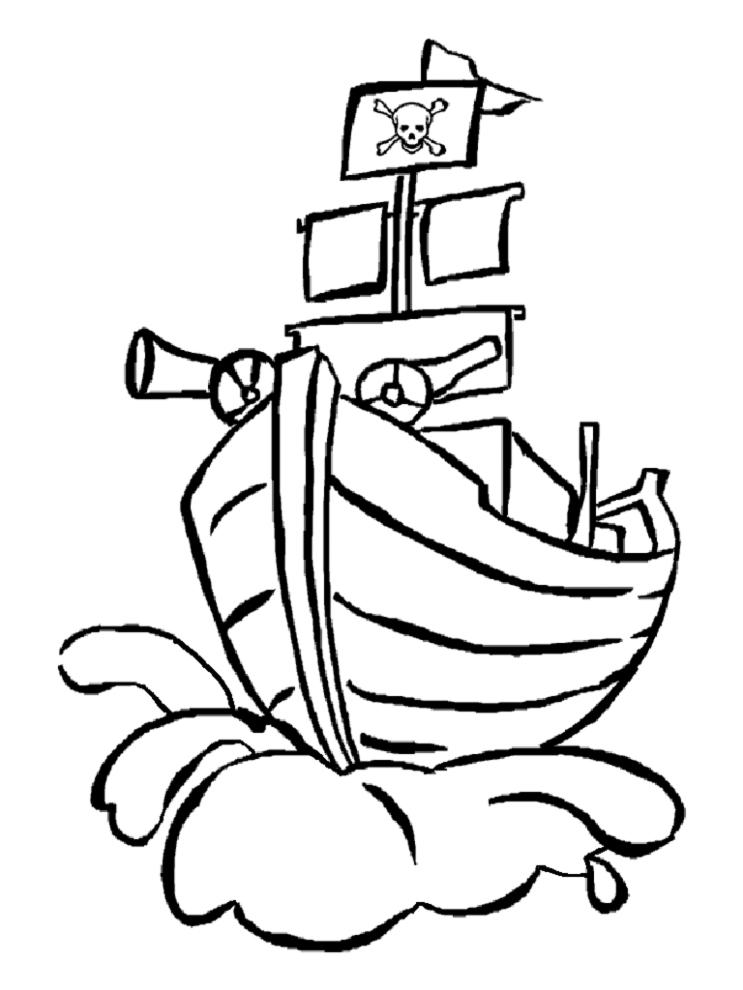 Stampa disegno di nave pirata da colorare for Costruzione di disegni online