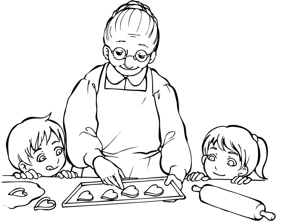 Disegni per la festa dei nonni da colorare e stampare - Disegnare cucine gratis ...