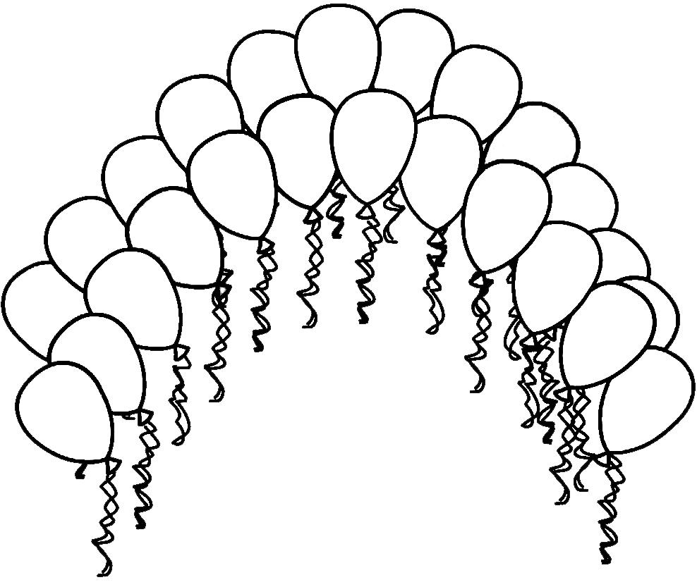 Stampa disegno di palloncini colorati da colorare for Disegni di scantinati di sciopero