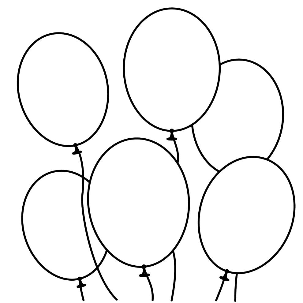 Stampa disegno di palloncini da colorare for Disegni di case dei caraibi