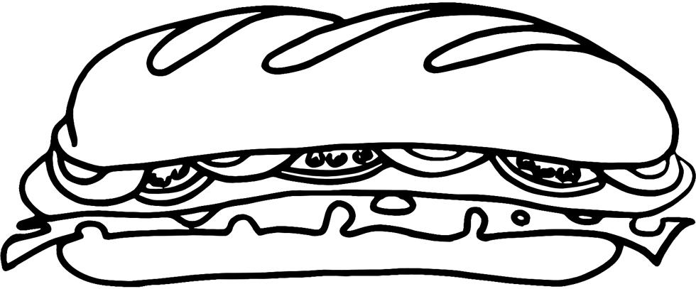 Stampa disegno di sandwich da colorare for Costruzione di disegni online