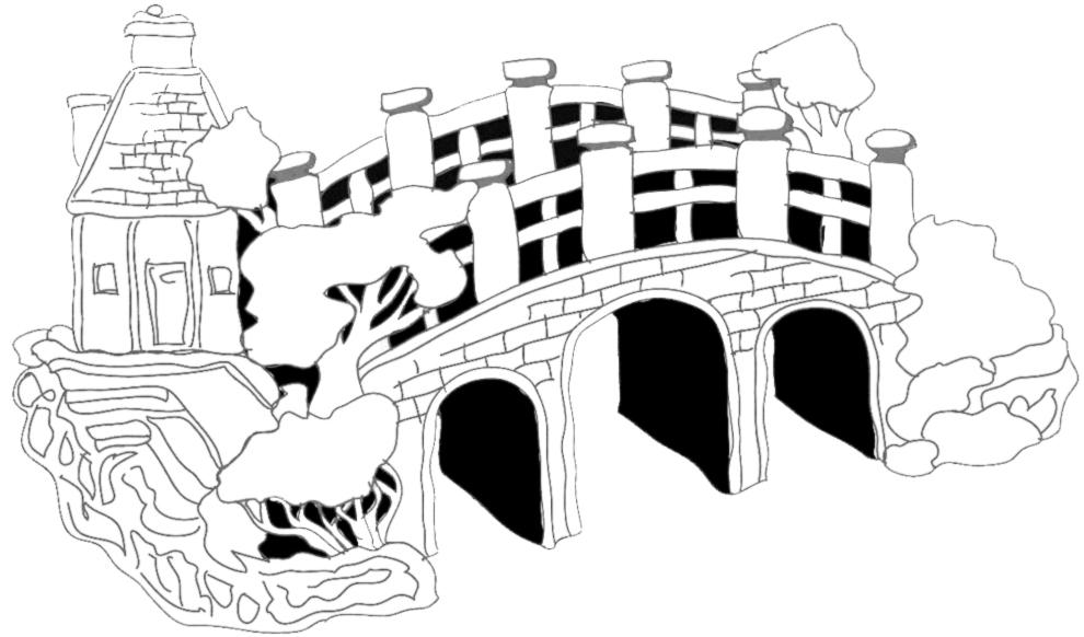 stampa disegno di il ponte da colorare