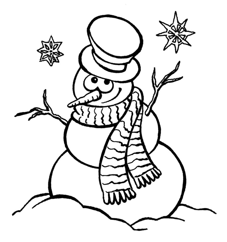 Stampa disegno di pupazzo di neve da colorare - Pupazzo di neve pagine da colorare ...