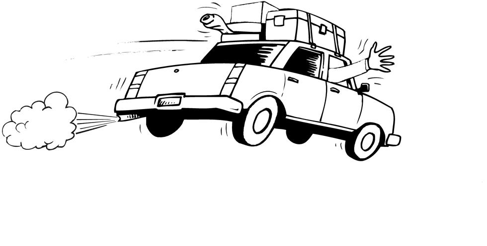 Stampa disegno di in vacanza da colorare for Disegni da colorare macchine cars