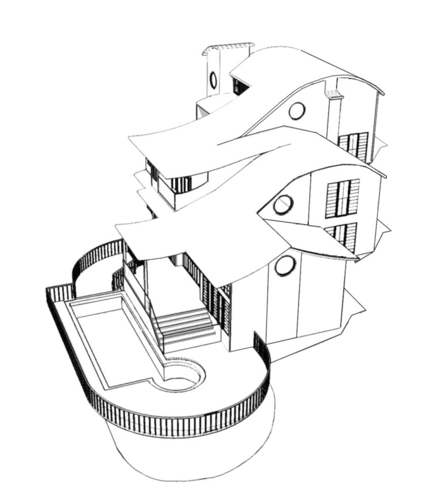Stampa disegno di casa in 3d da colorare for Disegnare in 3d online