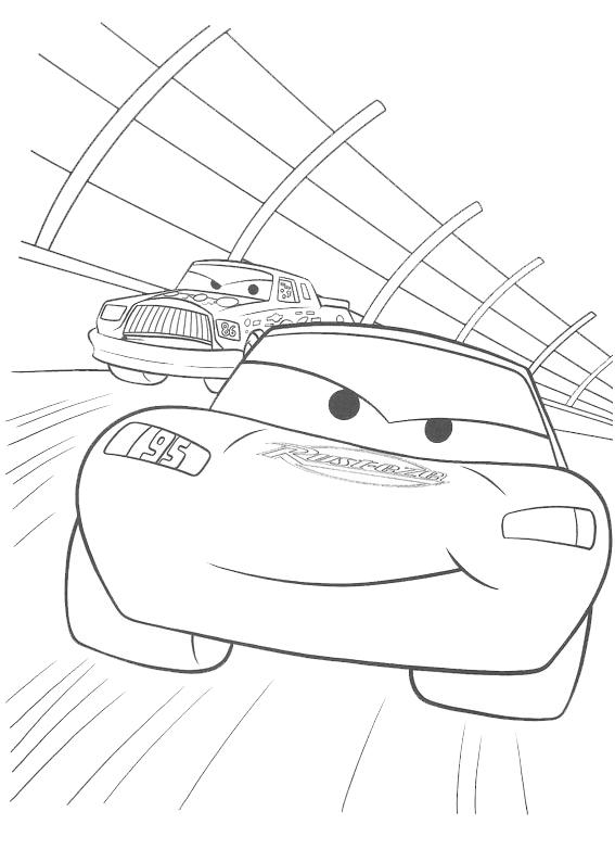 Stampa disegno di cars la gara da colorare for Disegno di cars 2 da colorare
