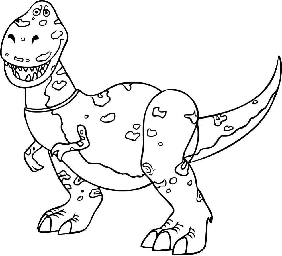 Stampa Disegno Di Rex Dinosauro Toy Story Da Colorare