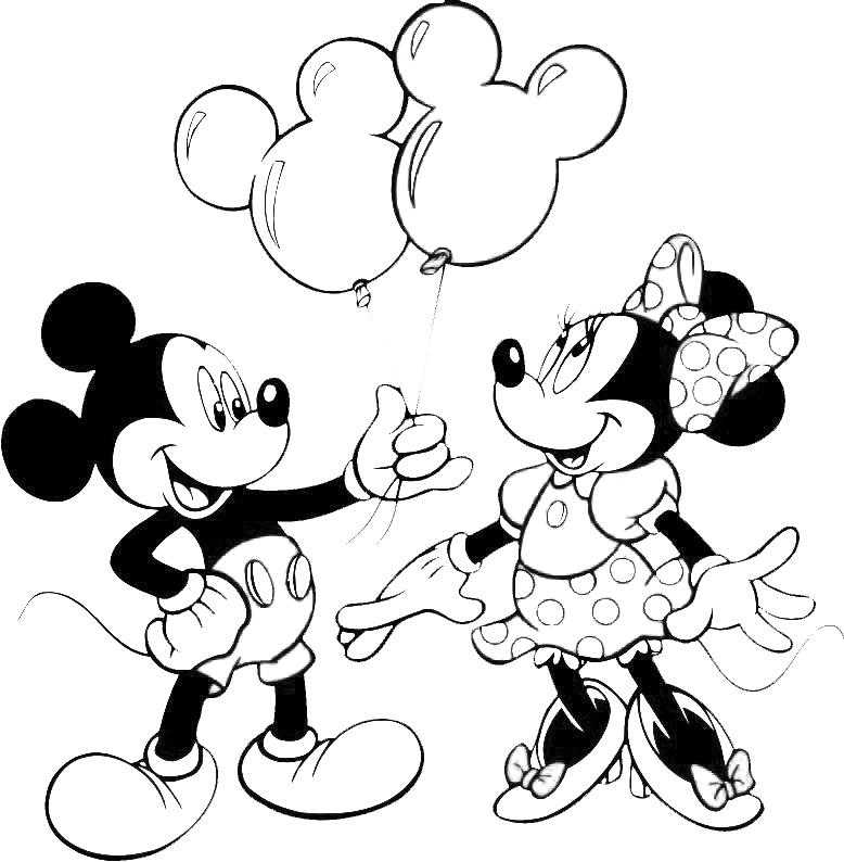 Stampa disegno di topolino e minnie da colorare for Disegni di minnie da colorare