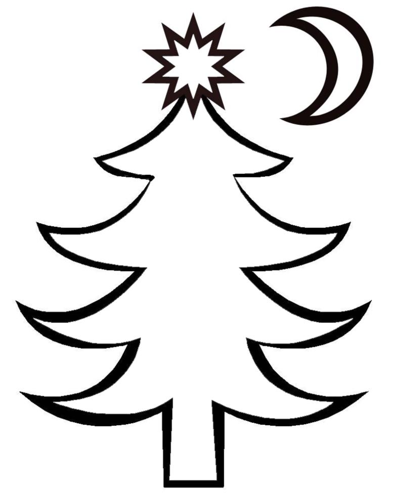 Stampa disegno di albero di natale da colorare for Alberi di natale da colorare e ritagliare