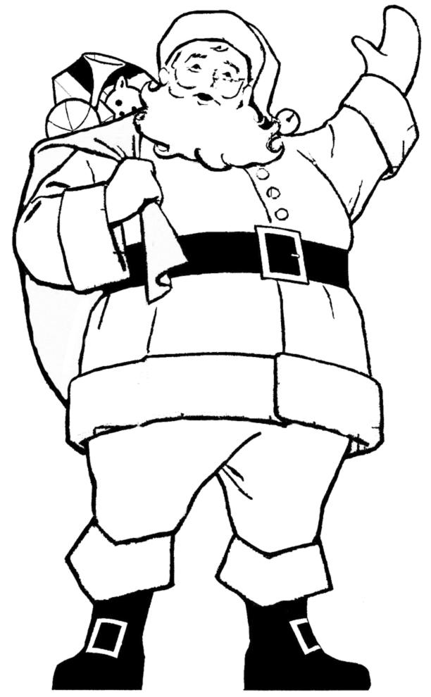 Disegni Di Natale Da Colorare On Line.Stampa Disegno Di Babbo Natale Da Colorare