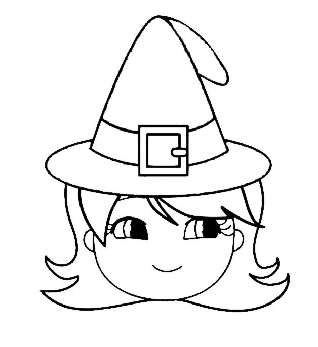 Stampa disegno di cappello di halloween da colorare - Come disegnare immagini di halloween ...