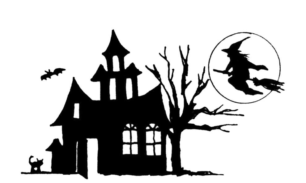 Stampa disegno di castello di halloween da colorare Disegni halloween da colorare gratis