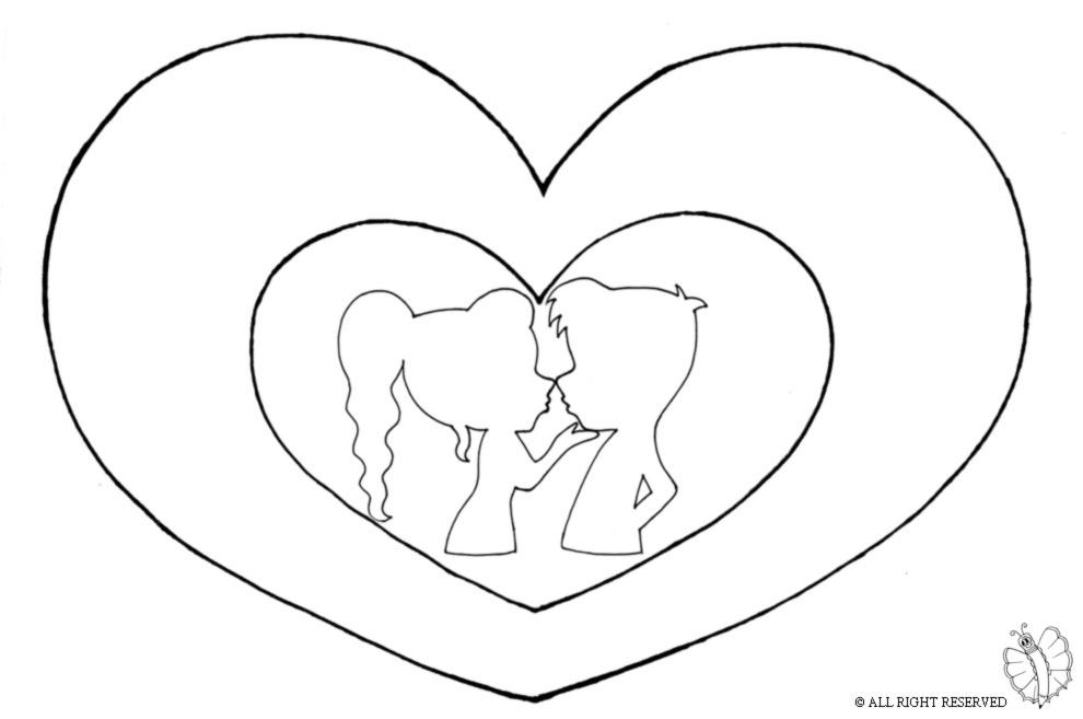 disegno di Bacio San Valentino da colorare