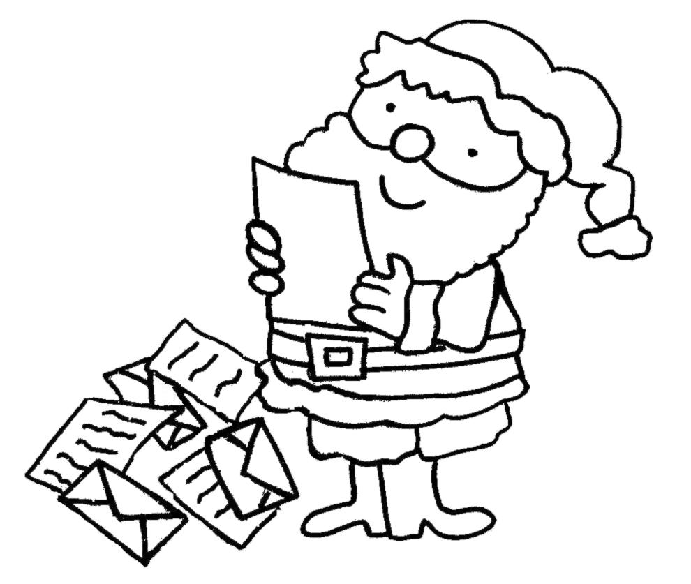 Stampa Disegno Di Letterina Per Babbo Natale Da Colorare
