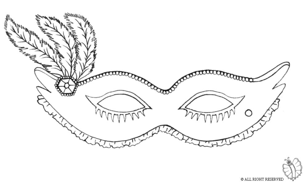 Disegni e mascherine di carnevale da colorare costumi for Immagini maschere carnevale da colorare
