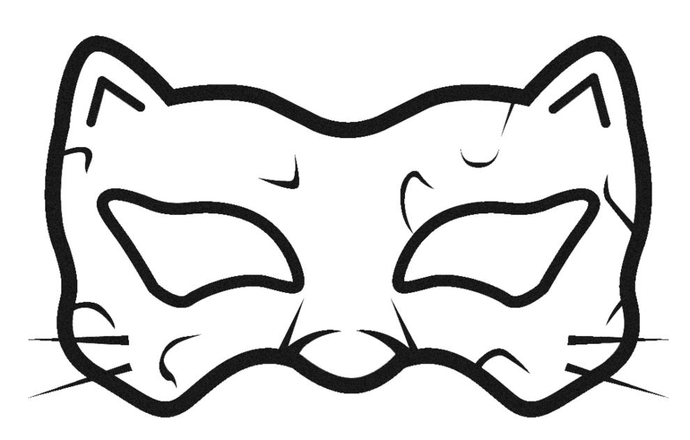 Stampa disegno di maschera per carnevale da colorare for Maschere da colorare di spiderman