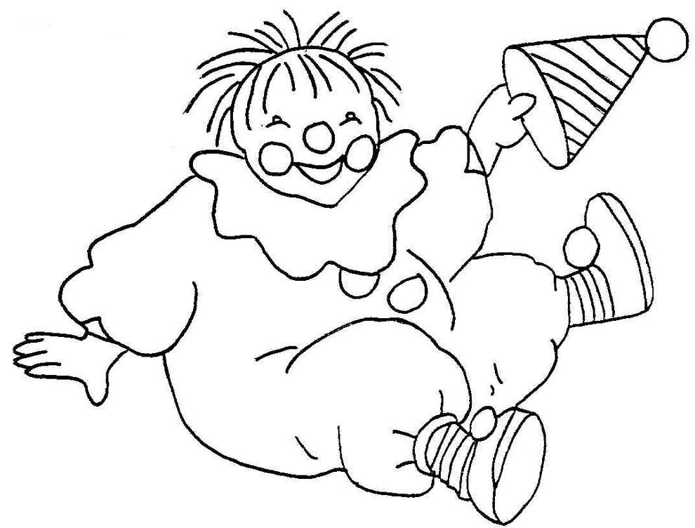 Stampa disegno di pagliaccio da colorare for Pagliaccio da disegnare