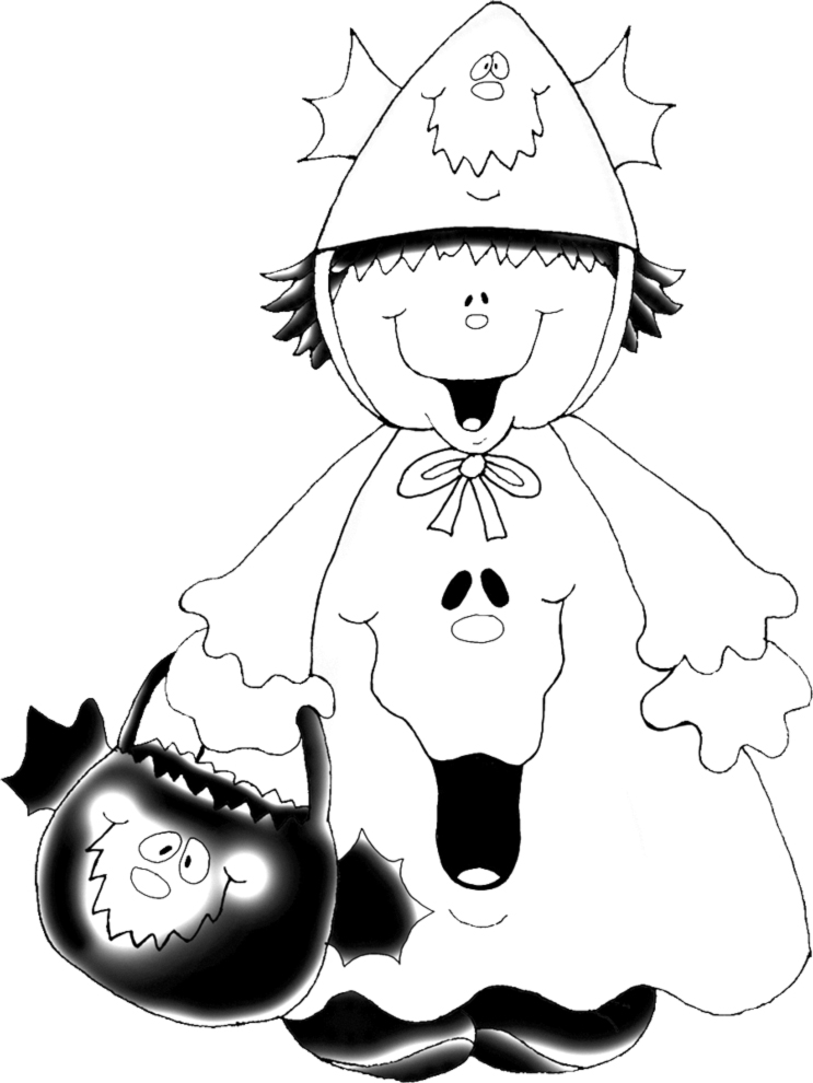 Stampa disegno di costume di halloween da colorare - Halloween immagini da colorare ...