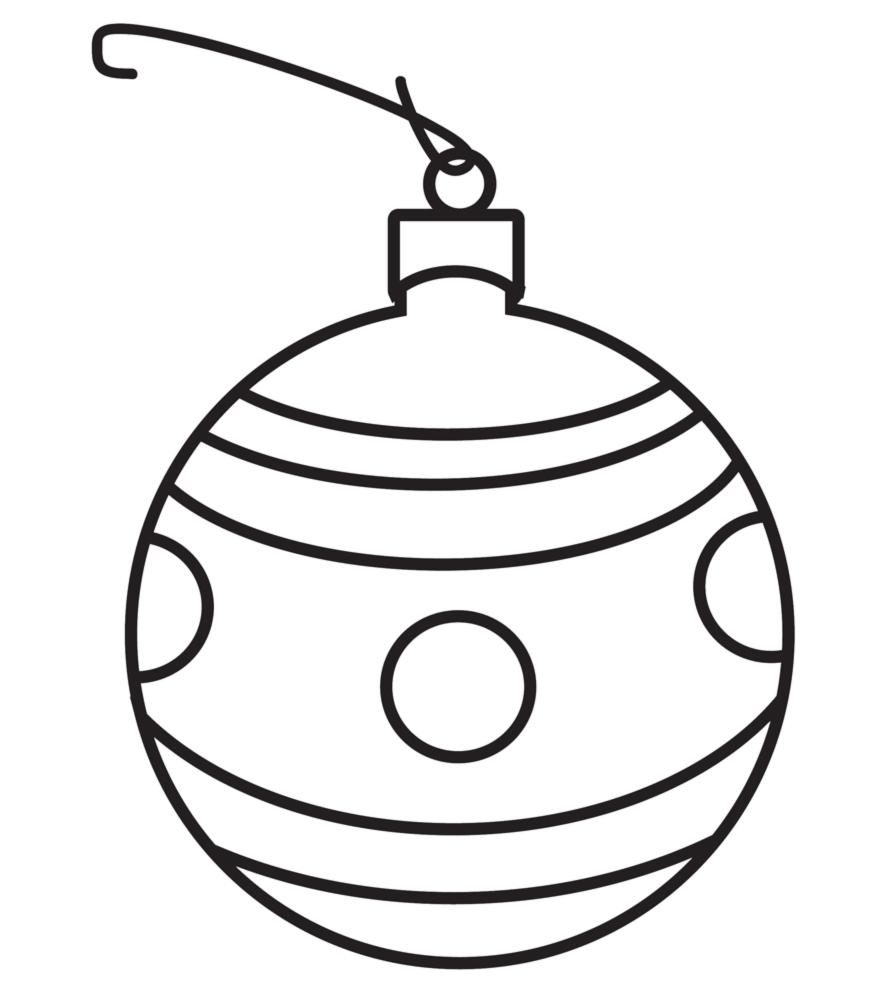 Disegni Di Palline Di Natale.Stampa Disegno Di Pallina Di Natale Da Colorare