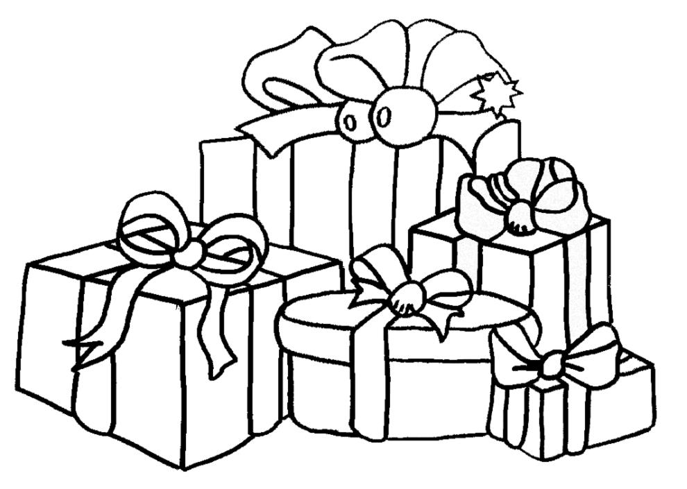 Stampa disegno di Regali di Natale da colorare