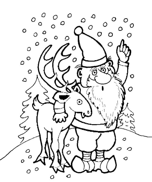 disegno di Renna di Natale da colorare