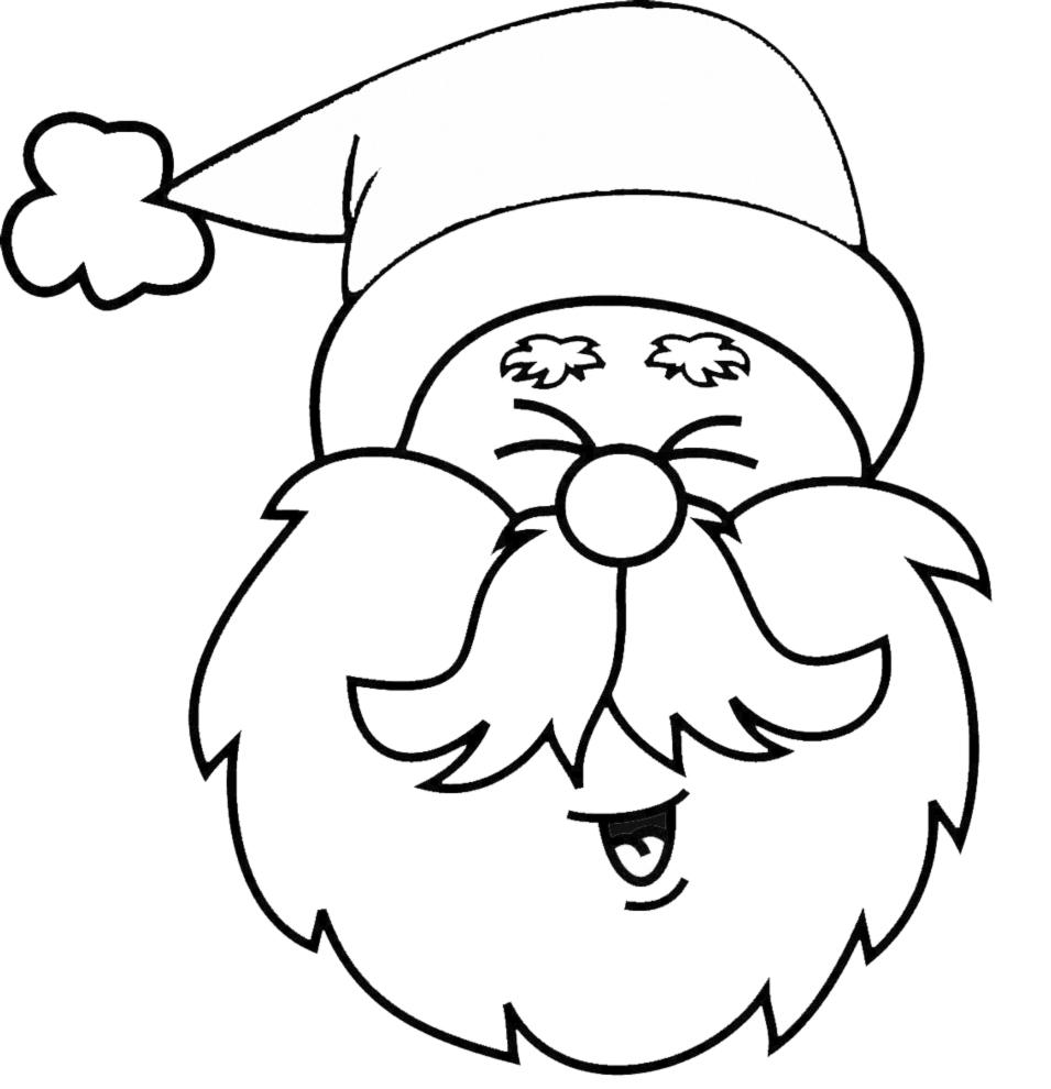 Stampa disegno di viso di babbo natale da colorare - Babbo natale da colorare fogli da colorare ...