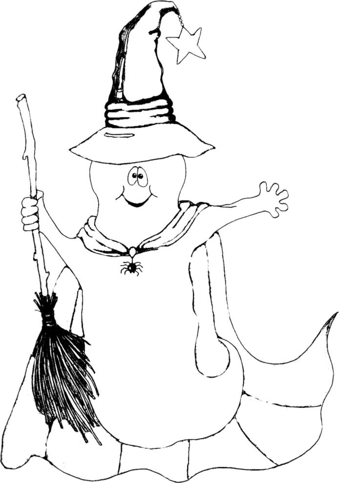 Stampa disegno di fantasma strega da colorare for Disegni di casa alta