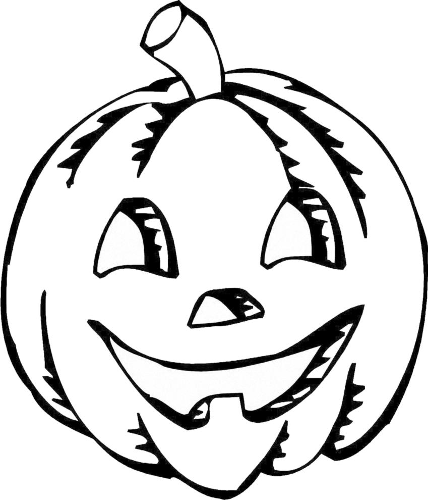 Stampa disegno di zucca di halloween da colorare Disegni halloween da colorare gratis