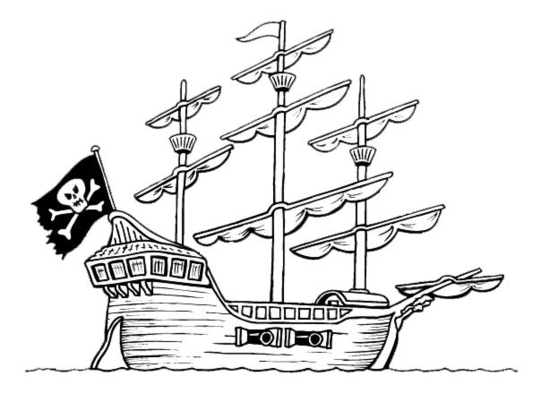 Stampa disegno di la nave pirata da colorare - Pirata immagini da colorare i pirati ...