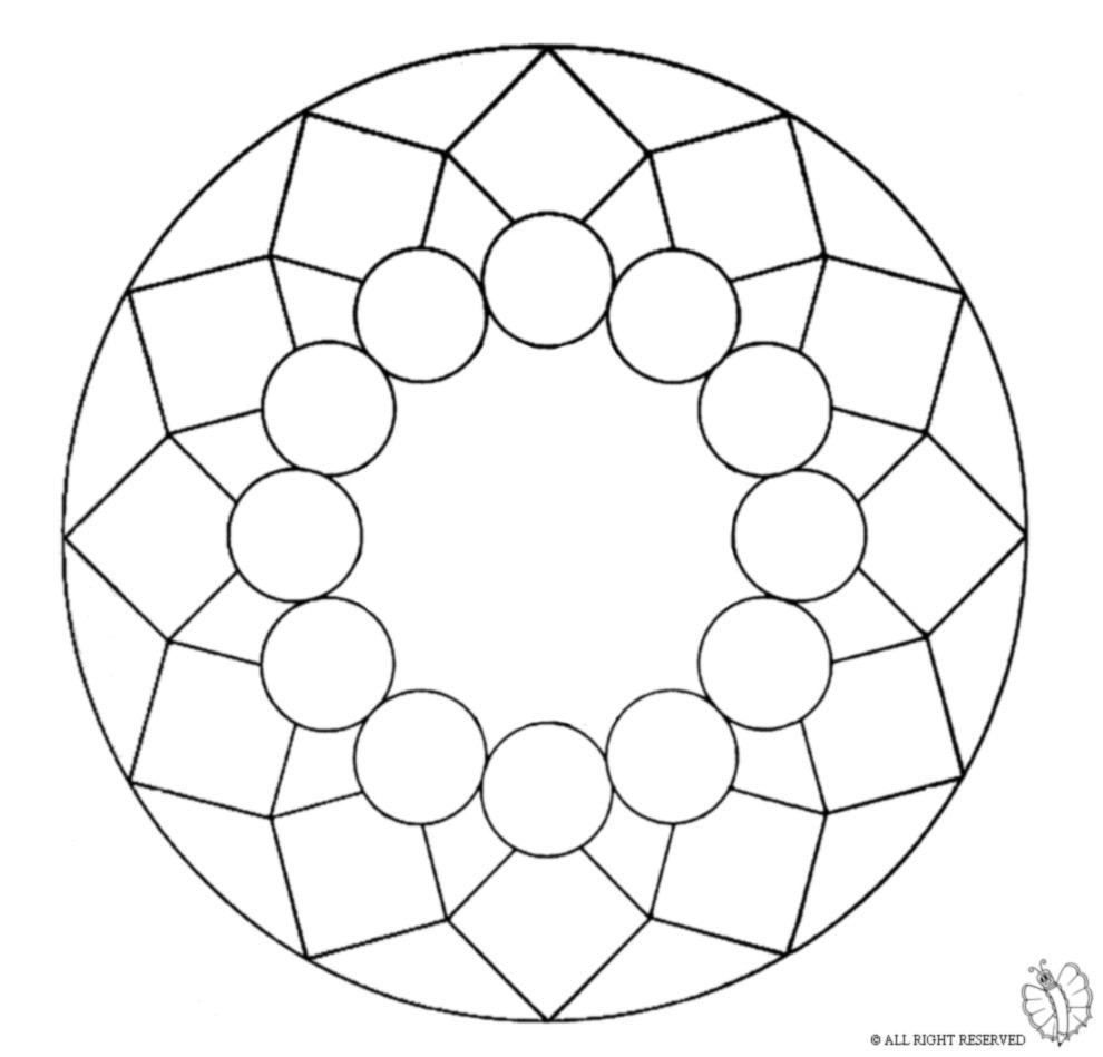 Stampa disegno di mandala 8 da colorare for Disegni di mandala semplici