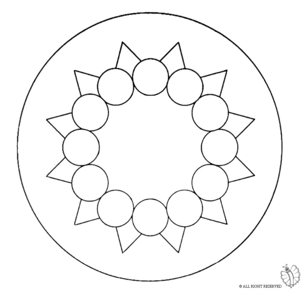 disegno di Mandala 9 da colorare