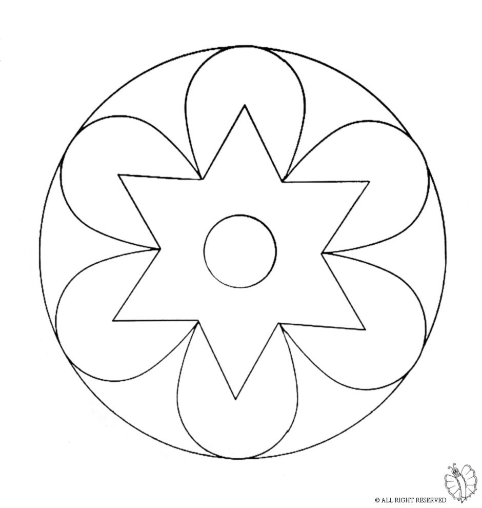 Stampa Disegno Di Mandala 2 Da Colorare