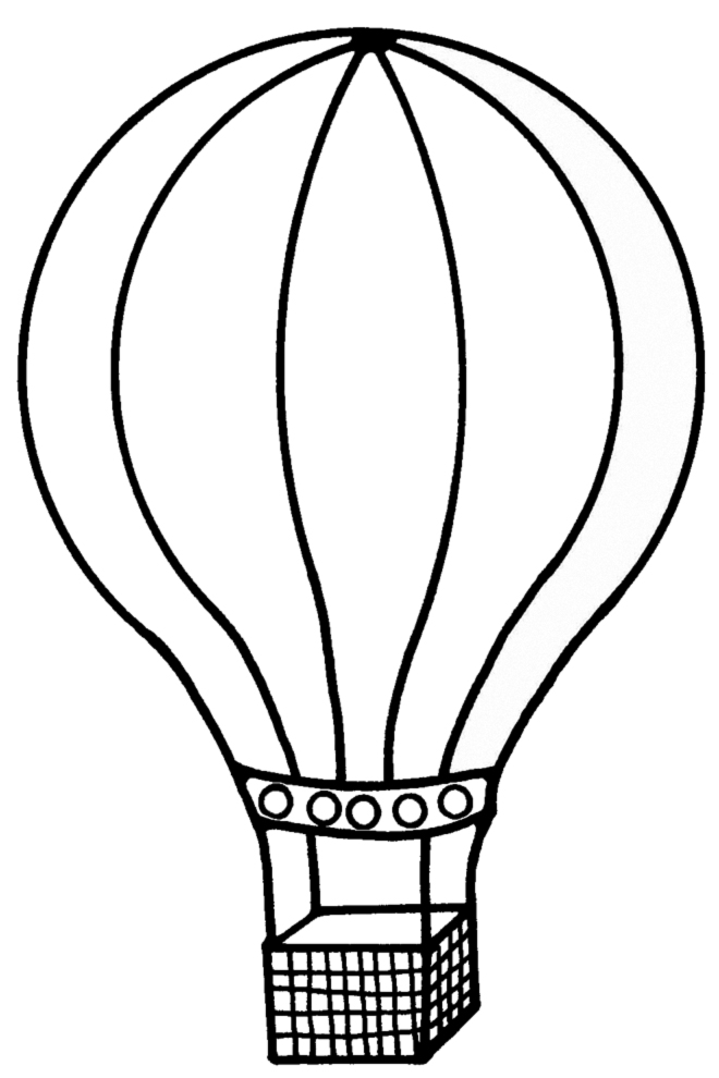 stampa disegno di la mongolfiera da colorare