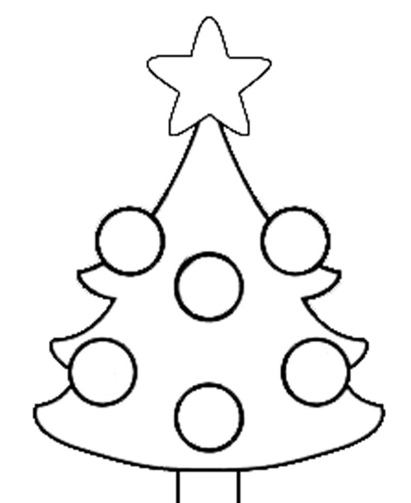 Stampa disegno di albero di natale da colorare for Disegni di natale facili per bambini